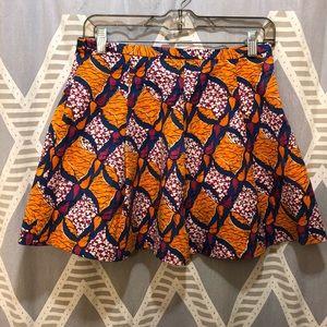 Zara Trafaluc Retro Printed Mini Skirt